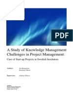 A Study of Knowledge Management Challenges in Project Management