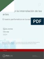 El teatro en la interrelación de las artes