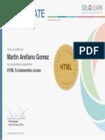 Constancia HTML
