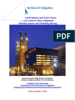 ABA Mass Tort Chemical Products Toxic Torts Regional Seminar Brochure