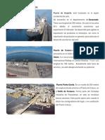 Puertos, Aeropuertos y Principales Ciudades de El Salvador