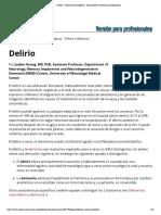 Delirio - Trastornos neurológicos - Manual MSD versión para profesionales