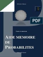 Aide Mémoire de Probabilités