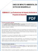Semana N°01 - Las Evaluaciones del Impacto Ambiental en Proyecto de Desarrollo.ppt