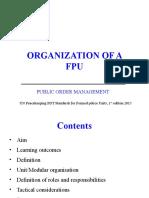 Organisation of an FPU PDT
