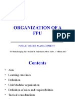 Organisation of an FPU PDT