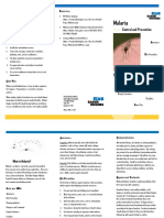 Malaria Control Brochure