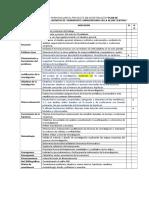Lista de Cotejo Para Evaluar El Proyecto de Investigación