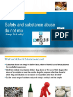 Safety and Substance Abuse Do Not Mix