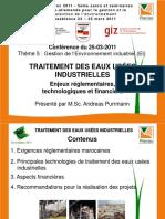 Theme5-3 Presentation Epuration Industrielle-EnviroMaroc