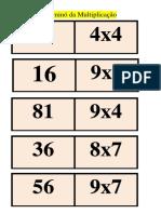 Dominó da Multiplicação