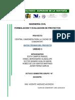 Datos Tecnicos de Construcción Formulaion de Proyectos
