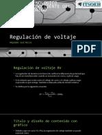 Regulación de Voltaje