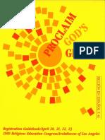 RECongress 1989 Registration Guidebook