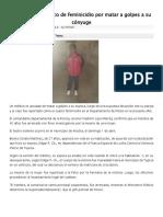 Acusan a Un Médico de Feminicidio Por Matar a Golpes a Su Cónyuge