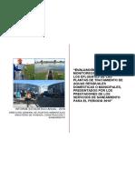 Informe Estadístico Anual Datos de Monitoreo Presentados Por Los Titulares de Las PTAR Durante El Año 2016