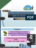 Ecologia - 1 - Conceitos Básicos 2015