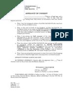 Affid Consent - LEGITIMATION