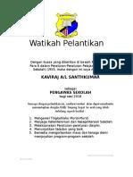 35812132 Contoh Watikah Pelantikan Pengawas Sekolah