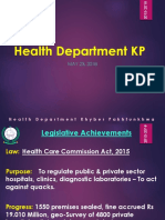 Achievements of health department of KP