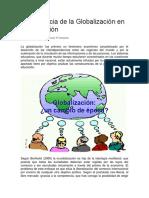 La Influencia de La Globalización en La Educación