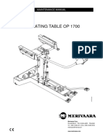 Merivaara OP-1700 Operating Table - Service Manual