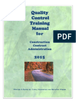2015 Quality Control Training Manual