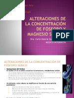 Alteraciones de la concentración de Fósforo y Magnesio.pptx