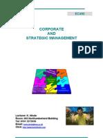 EC490 Corporate and Strategic Management