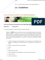 Food and Drugs (Composition and Labelling) Regulations