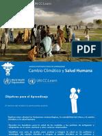 SPANISH_Climate Change and Human Health