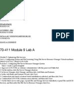 70-411 Module 9 Lab A