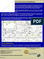 Sewer Line Notification Flyer