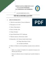 Tecnicas de Relajacion Plan de Sesion