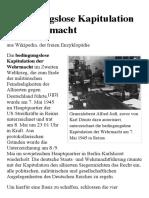Bedingungslose Kapitulation Der Wehrmacht – Wikipedia
