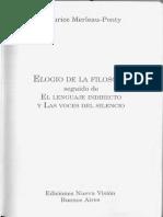 MERLEAU-PONTY Maurice Elogio de La Filosofía