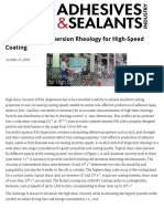 Tailoring PSA-Dispersion Rheology for High-Speed Coating