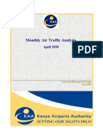 KAA Airports Traffic Report - April 2018