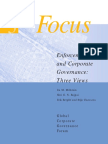 Enforcement and Corporate Governance - Three Views
