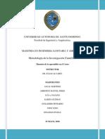 Informe de Memoria de Metodologia de La Investigacion Cientifica (Final)