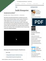 Cara Memperbaiki Komputer BlackScreen - Catatan Teknisi