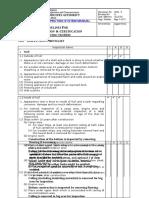 VIII - INSPECTION CHECKLIST 2.doc