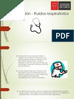 Auscultación - Ruidos respiratorios