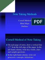 Note Taking Methods