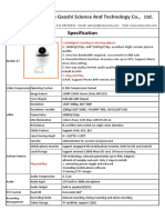 Specification of G7 Home Security IP Camera