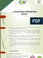 Tatalaksana Pneumonia 2018