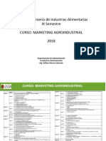 Marketing Agroindustrial IX SEMESTRE Alimentarias Semana 1