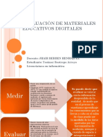 Evaluaciòn de Materiales Educativos Digitales