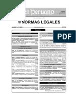 DS 021-2008 MTC Reglamento de Transporte de Sustancias Peligrosas