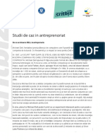 Modele de Antreprenori Romani - Studii de Caz